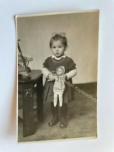 orig. Foto AK Kind Puppe Spielzeug Wilhelm Brämer Bad Lauchstädt Merseburg