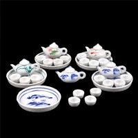 Kid Pretend Play Miniature Dining Ware Porcelain Tea Set Dish Cup Plate TOYB Gw