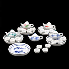 Kid Pretend Play Miniature Dining Ware Porcelain Tea Set Dish Cup Plate TOY