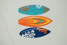 Surf Board Print #680 Nylon Lycra Spandex 4 Way Stretch Swimwear Fabric BTY