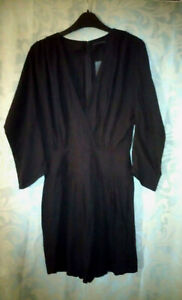 French Connection Playsuit Navy Fast City Crepe Cross Over All In One, RRP £130