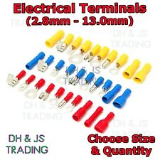 Electrical Terminals Crimp On Connector Spade Butt Ring Fork Tab Bullet Terminal