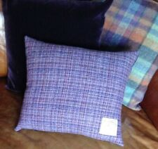 "2 Harris Tweed Cushion Covers Pink Purple Slate Grey 18"" Velvet Rectangle Lilac"