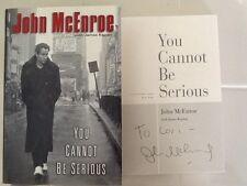John McEnroe SIGNED Autobio You Cannot Be Serious  Tennis Tatum O'Neil HC/DJ