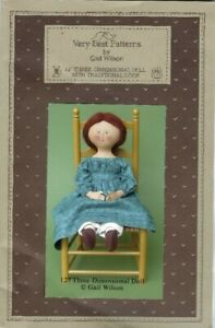 """Gail Wilson's Vey Best Patterns #106 12"""" 3D Doll with Traditional Look"""