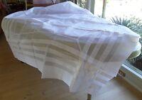 Square White Starched 100% Cotton Light Tablecloth & 8 Napkins