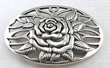 WESTERN WOMEN'S ROSE FLOWER COWGIRL FLORAL COOL RODEO TROPHY BELT BUCKLE NEW