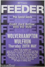 FEEDER Wolverhampton Wulfrun Hall 1999 Rare Original Official UK Concert POSTER