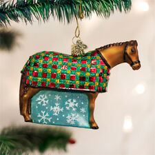 Snowflake Horse Glass Ornament