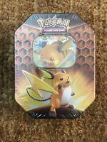 Pokémon Trading Card Game TCG HIDDEN FATES RAICHU - GX Collector's Tin - SEALED