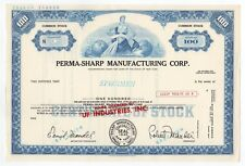 SPECIMEN - Perma-Sharp Manufacturing Corp. Stock Certificate