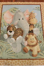 Jungle Babies Tropical Jungle Babies Quilt Panel Cotton Fabric Fabric Traditions