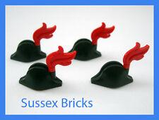 LEGO PIRATI - 4x bicorne Cappello Copricapo con pennacchio rosso per i soldati imperiali