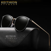 KEITHION Vintage Retro Polarized Mens Women Sunglasses Mirrored UV400 Eyewear
