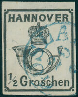 HANNOVER, MiNr. 17 II y, Plattenfehler, gestempelt, Befund Berger, Mi. 450,-