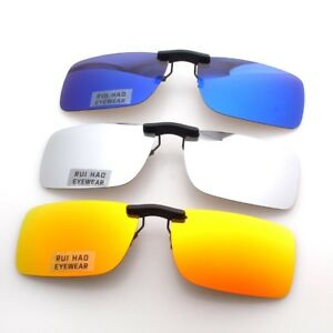 Mirror Polarized Sunglasses Clipon Sun Glasses Eyewear Antireflective Driving