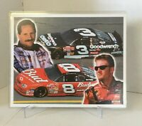 Dale Earnhardt Jr Sr Goodwrench Budweiser 8x10 Color Print Litho