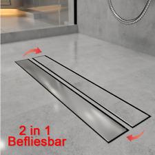 Duschrinne Edelstahl flach Bodenablauf Abfluss Befliesbar Duschablauf Badezimmer
