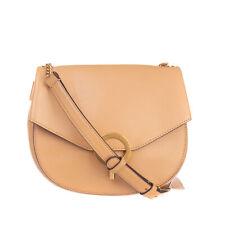 RRP €245 SANDRO Leather Crossbody Shoulder Bag Adjustable Strap Clasp Flap