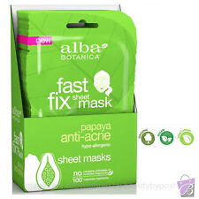 ANTI-ACNE Face Mask Sheet pimple treatment natural fiber Alba Botanica 1 2 or 3