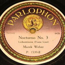 """MAREK WEBER """"Nocturno No. 3"""" PARLOPHON 78rpm Autographed Matrix 78rpm 12"""""""