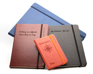 Personalised Custom Hardcover Notebook   Design A Unique Journal   Engraved Gift