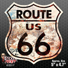 "ROUTE 66 STICKER ""RUSTY"" Bumper Vinyl Decal sign car vintage window USA #FS702"