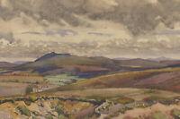 Philip William Cole (1884-1964) - Watercolour, Landscape View with Fields