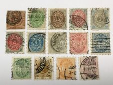 old stamps DENMARK  x 14