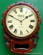 ALBERO di Londra Decorativi In Mogano 8 giorno inglese FUSEE DROP Quadrante Orologio