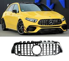 MERCEDES A CLASS W177 FRONT GRILLE GRILL PANAMERICANA GTR GT R STYLE BLACK 2018+