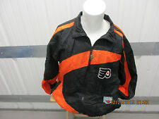 VINTAGE PRO-PLAYER PHILADELPHIA FLYERS XL SEWN BLACK/ORANGE WINDBREAKER JACKET