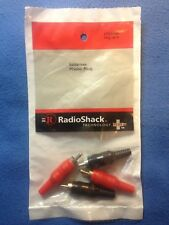 RCA PHONO PLUGS 4 Pack Radio Shack # 274-0384 Solderless or Solder FREE SHIPPING