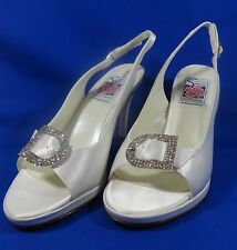 NEW Special Occasions by Saugus Shoe COCO 33075B 5.5B White Silk Platform