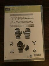 Stampin' Up! Retired MAKE A MITTEN stamps & MANY MITTENS Framelit Dies