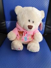 Keel Toys Pipp the Bear 16cm- sitting - Pink - I love Sport - New