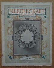 NEEDLECRAFT magazine Mar 1923 Crochet PLACE MATS-Cream of Wheat AD EDWARD BREWER