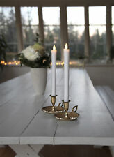 2x flammenlose LED Stabkerze Echt Wachs Kerze Tafelkerze flackernd Deko 25 cm