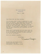RONALD REAGAN - TYPED LETTER SIGNED 06/07/1985