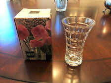 MIKASA  MONARCHY ~~ CUT GLASS BUD VASE NEW WITH BOX-- 4 3/4 in. tall