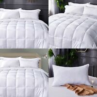 3D Embossed 13.5 Tog Duvet Quilt With Relaxing Massage Bubbles/Pillow Soft Warm