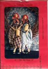 "Rag Dolls 32"" Mr & Mrs. Ra Rags Primitive Homespun Doll Patterns"