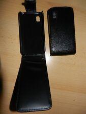 Schutzhülle Ledertasche Hülle Handy Tasche Etui Samsung GT-S5230 / S5230 Schwarz