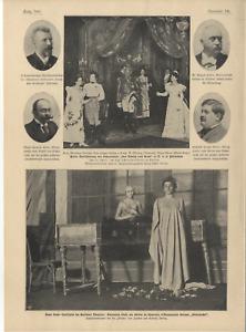 Elonora Duse im Berliner Theater Schauspiel König v.Rom K.Lautenschläger v. 1900