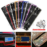 EU Russian Car Licence Number Plate  Crystal Diamonds License Plat