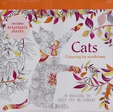 Cats Colouring for Mindfulness 70 Designs by Aurelie Castex NEW (Paperback 2015)