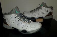 2014 Nike Air Jordan Carmelo Melo M10 White Cool Gray Mango 629876-105 Mens 14