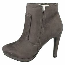 Ladies Spot on F50679 Fashion Ankle BOOTS Style K Grey 5 UK Standard