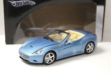 1:18 Hot Wheels Ferrari California Spyder blue NEW bei PREMIUM-MODELCARS