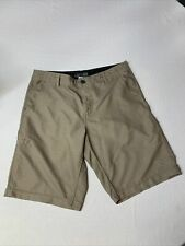 "Da Hui Hybrid Collection Stretch Hybrid Chino Shorts Khaki/Beige 10.5"" Size 32"